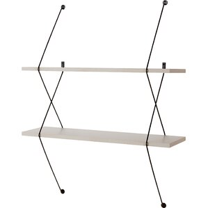 shaea 2 shelf shelving system with wire bracket