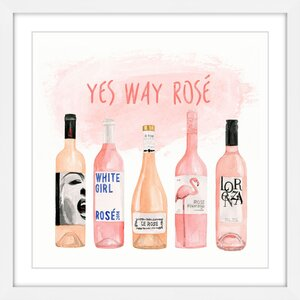 'Yes Way Rose' by Dena Cooper Framed Painting Print by Marmont Hill