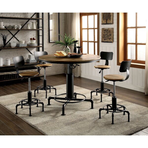 Gowan 5 Piece Adjustable Pub Table Set by Williston Forge