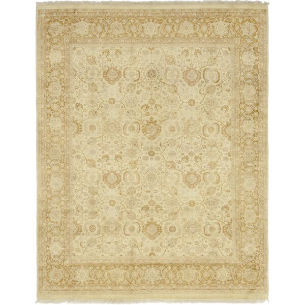 One-of-a-Kind Dever Hand-Knotted Wool Beige Indoor Area Rug by Isabelline