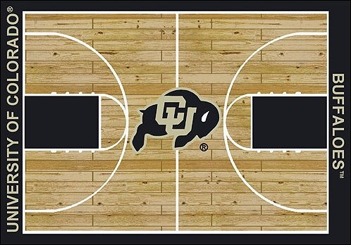 NCAA College Home Court Colorado - Buffalos Novelty Rug by My Team by Milliken