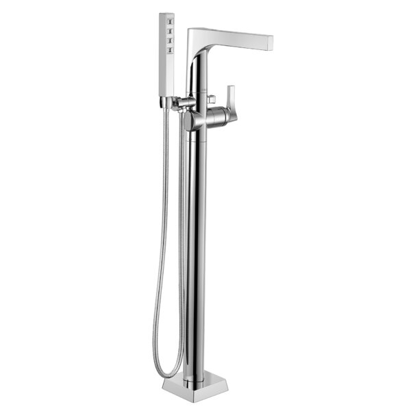Zura Floor Mount Tub Filler with Hand Shower by Delta