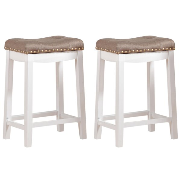 Brought 24 Bar Stool (Set of 2) by Three Posts