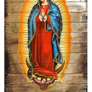 Museum Icons Lady of Guadalupe Painting Print by G Debrekht