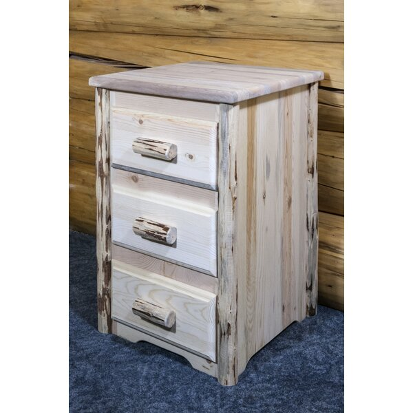 Tustin 3 Drawer Nightstand by Loon Peak