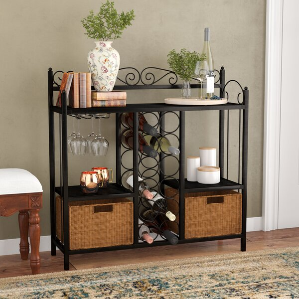Clarkstown Scrolled Bar with Wine Storage by Fleur De Lis Living