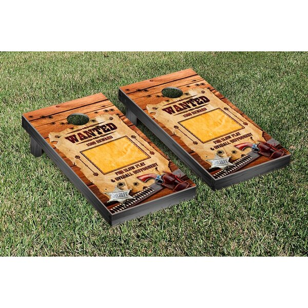 Wanted Poster Cornhole Game Set by Victory Tailgate
