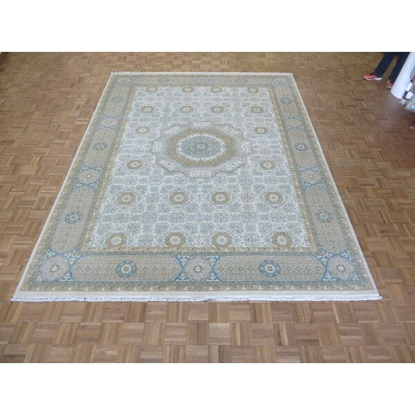 One-of-a-Kind Rhyne Mamluk Oushak Hand-Knotted Ivory/Beige Area Rug by Astoria Grand