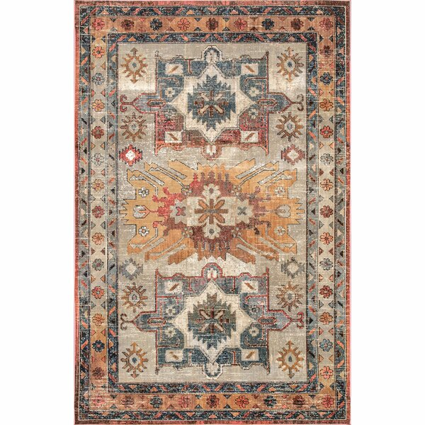 Appleby Blue/Brown Area Rug by Bungalow Rose