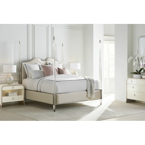 Upholstered Four Poster Bed by Caracole Classic