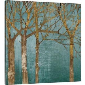 Golden Day Turquoise Wall Art on Gallery Wrapped Canvas by Latitude Run