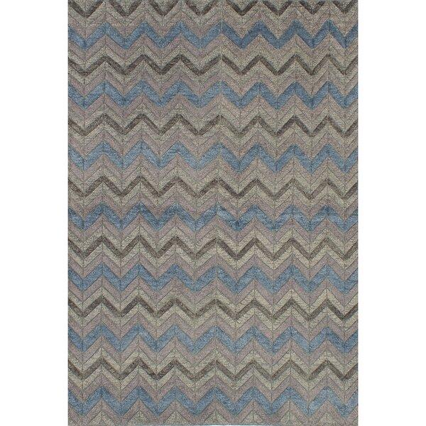 Payton Hand-Knotted Beige/Blue Area Rug by Brayden Studio
