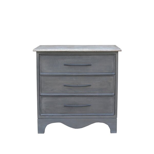 Melifonwu 3 Drawer Nightstand by Gracie Oaks