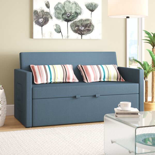 Modern Corvallis Sofa Bed by Latitude Run by Latitude Run
