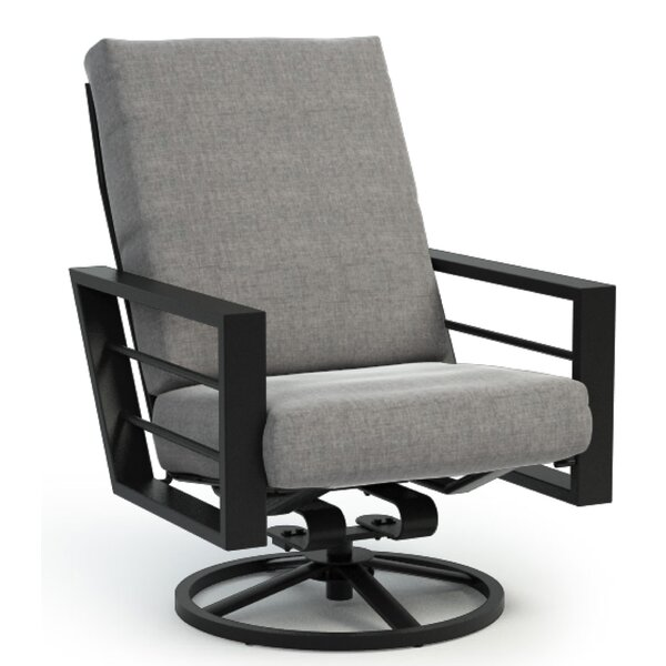 Niles High Back Rocker Chat Swivel Patio Chair with Sunbrella Cushions by Brayden Studio