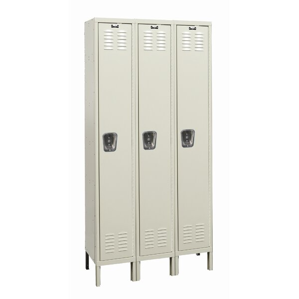 Galvanite 1 Tier 3 Wide School Locker by Hallowell