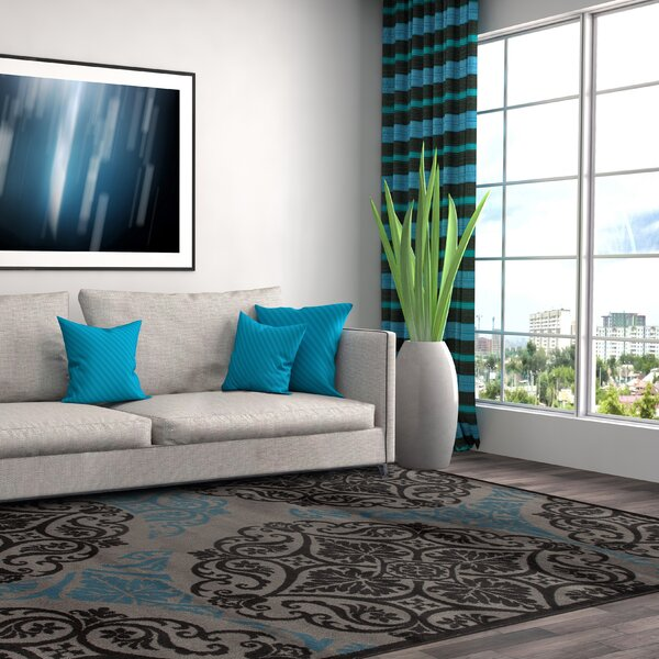Sharen Gray/Blue Area Rug by Winston Porter