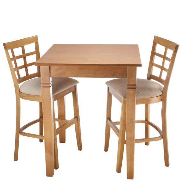 Harner 3 Piece Counter Height Pub Table Set by August Grove