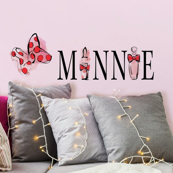 Minnie Mouse Perfume Peel and Stick Wall Decal by Room Mates