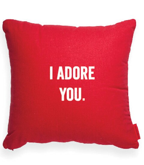 Pettis I Adore You Decorative Throw Pillow by Wrought Studio