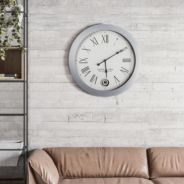 Oversized Ottavio Sleek and Smooth 31 Wall Clock by Darby Home Co