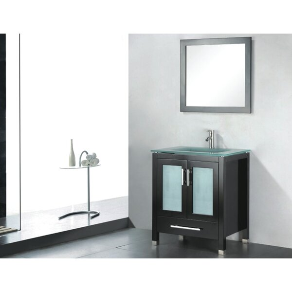 Amara 24 Single Bathroom Vanity Set with Mirror by Adornus