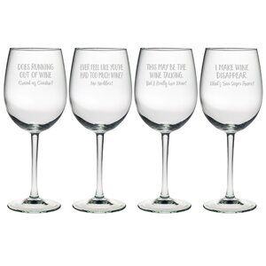 4 Piece Uncorked 19 oz. All Purpose Wine Glass Set