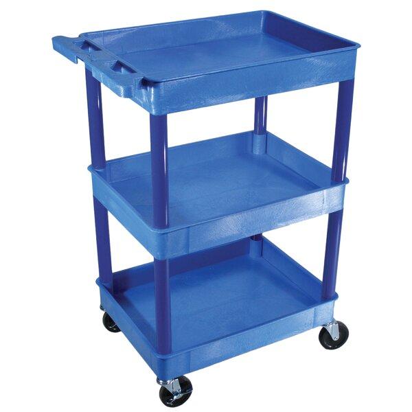 Three Shelf Utility Cart by H. Wilson Company