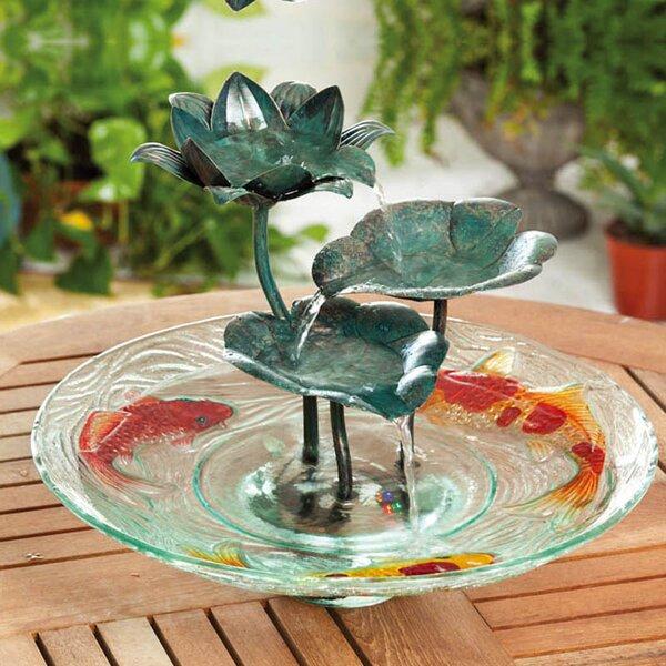 Glass/Metal Night Garden Tabletop Fountain by Evergreen Enterprises, Inc