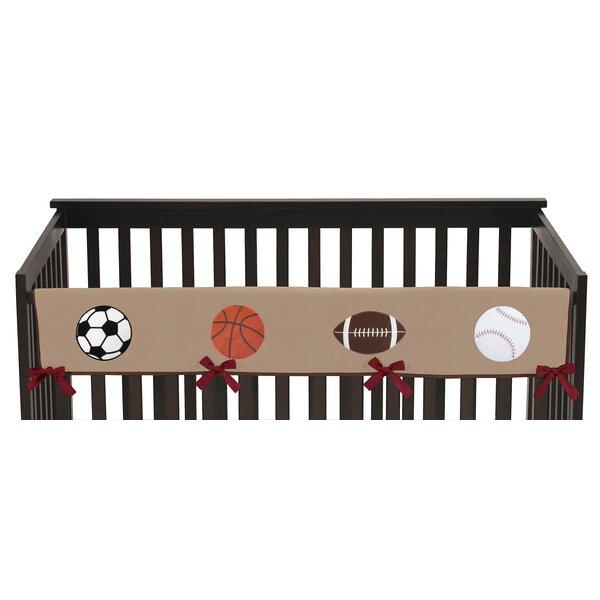 All Star Sports Long Crib Rail Guard Cover by Sweet Jojo Designs