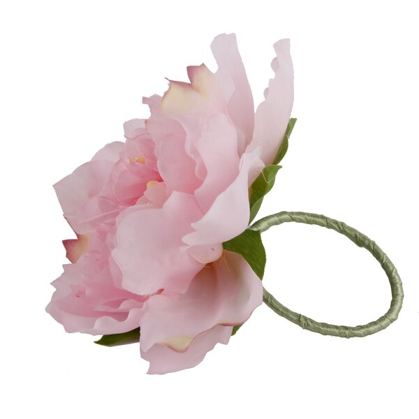 Peony Napkin Ring (Set of 6) by House of Hampton