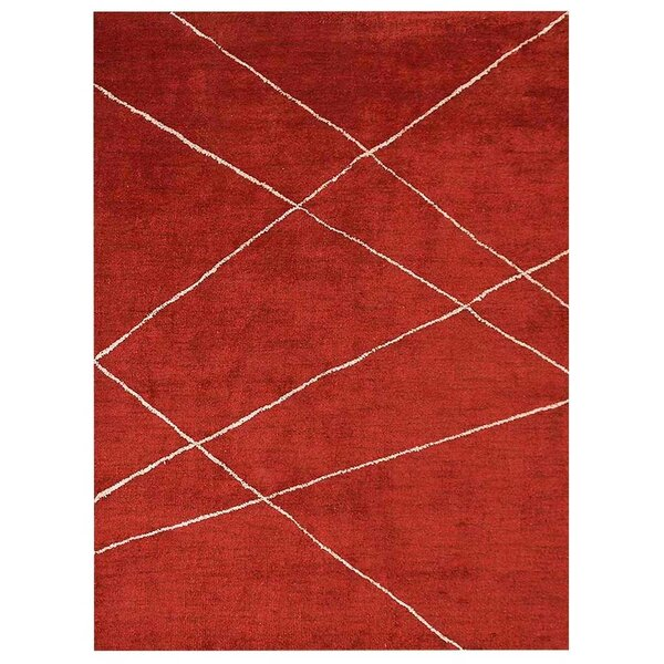 Iwan Gabbeh Hand-Knotted Silk Red Area Rug by Latitude Run