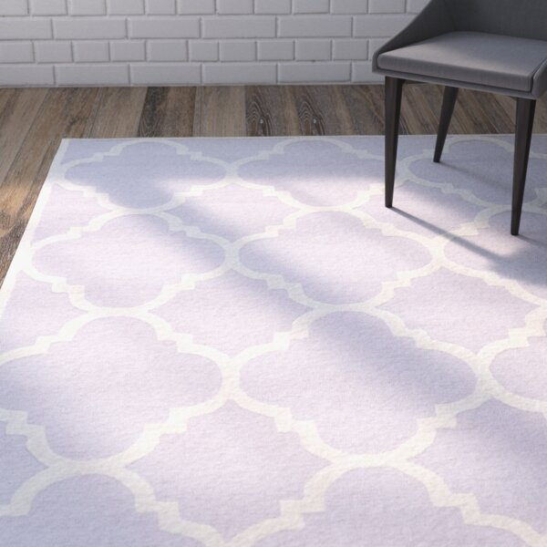 Charlenne Wool Lavander / Ivory Area Rug by Zipcode Design