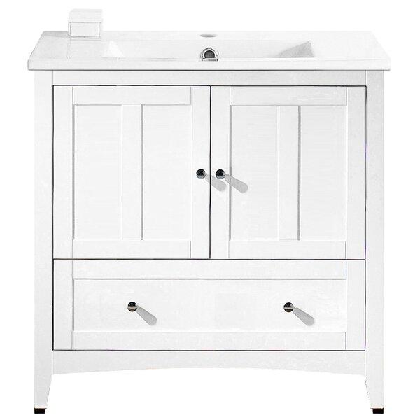 Artic Modern 36 Plywood-veneer Single Bathroom Vanity Set by Longshore Tides