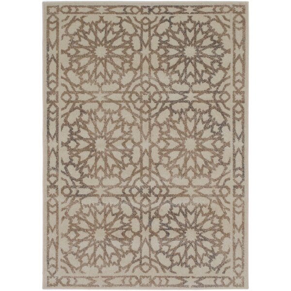 Amherst Beige/Cream Area Rug by Bungalow Rose