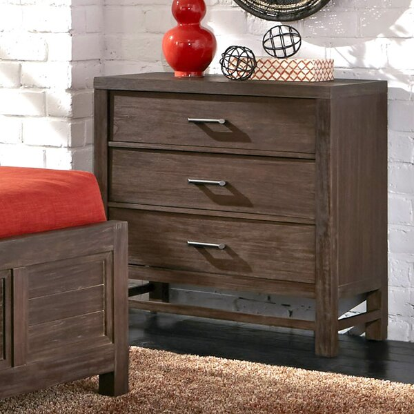 Hollo 3 Drawer Bachelors Chest by Bay Isle Home
