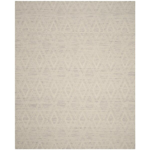 Alexandria Hand-Woven Silver/Ivory Area Rug by Langley Street