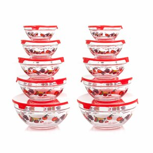 20 Piece Glass Bowl Set