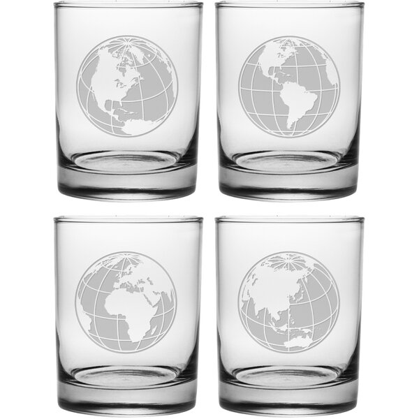 Globes Rocks Glass (Set of 4) by Susquehanna Glass