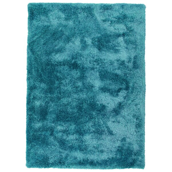 Bieber Teal Area Rug by Ebern Designs
