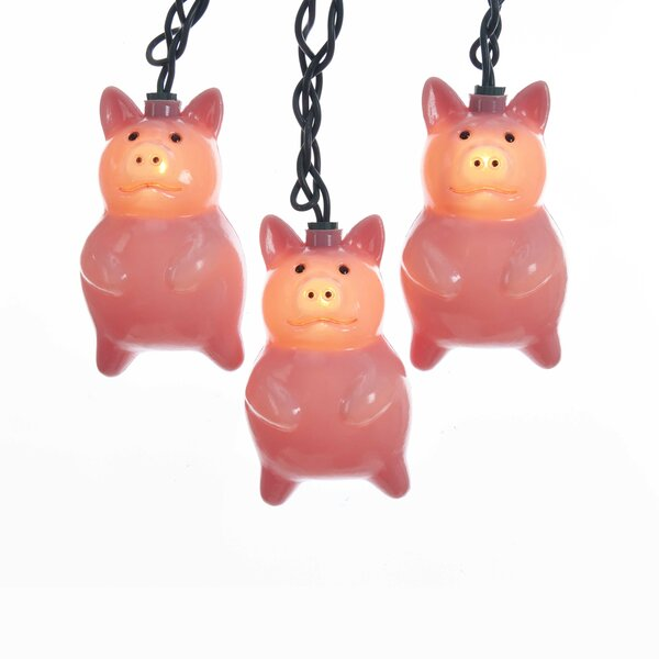 Fancy Pigs String Lights by Kurt Adler