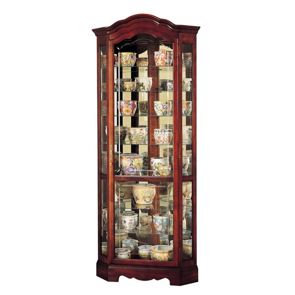 Brannen Corner Curio Cabinet by Darby Home Co