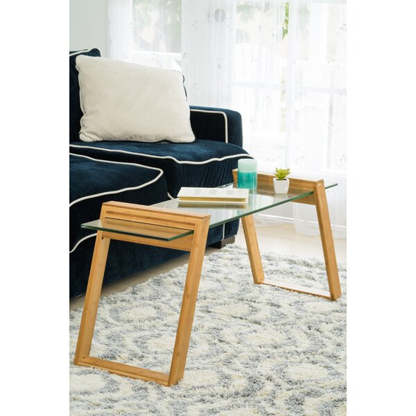 Chalfant Glass and Bamboo Coffee Table by George Oliver