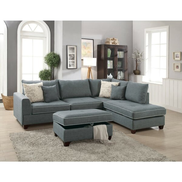 Hong Dorris Right Hand Facing Sectional With Ottoman By Alcott Hill