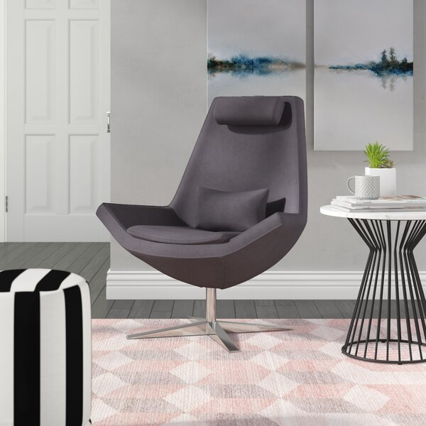 Lorimer Swivel Lounge Chair by Wade Logan