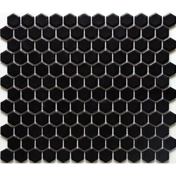 Value Series 1'' x 1'' Porcelain Mosaic Tile in Matte Black by WS Tiles
