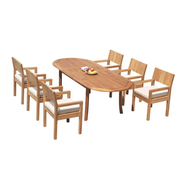 Darrius 7 Piece Teak Dining Set by Rosecliff Heights