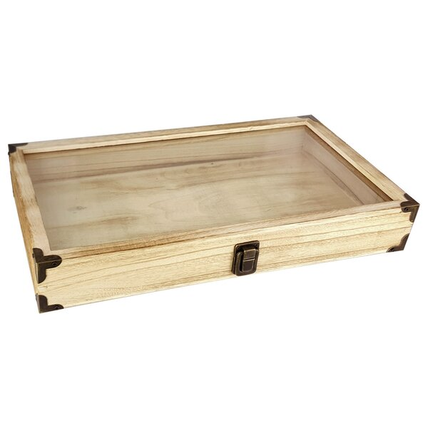 """Storage Display Boxes For Marbles X 5 Felt Lined Clear Top 3 1//2""""X 7//8"""""""
