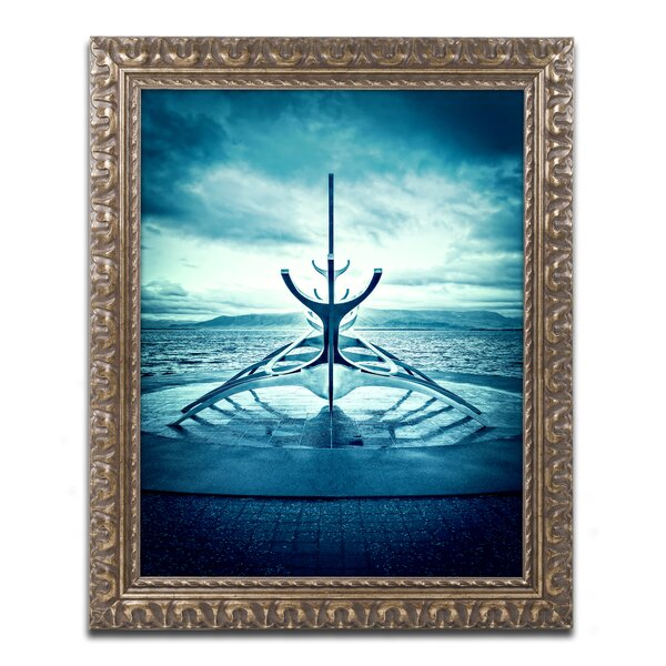 Viking Ship by Philippe Sainte-Laudy Framed Photographic Print by Trademark Fine Art