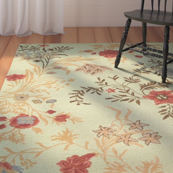 Ginger Light Green Area Rug by August Grove